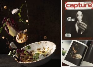 Food photography published in annual magazine