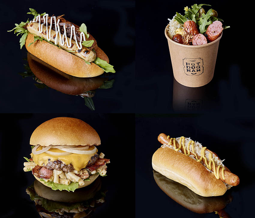Yummy food photography for Hot Dog Man menu Board